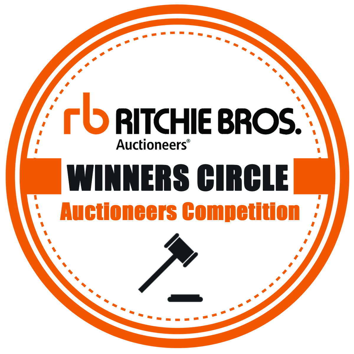 Ritchie Bros  Winners Circle Auctioneers Competition & Horse